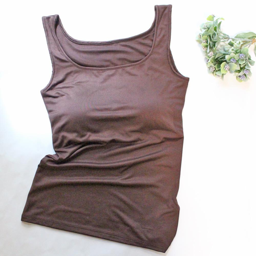 シルクストレッチコレクション 胸パット付きタンクトップ