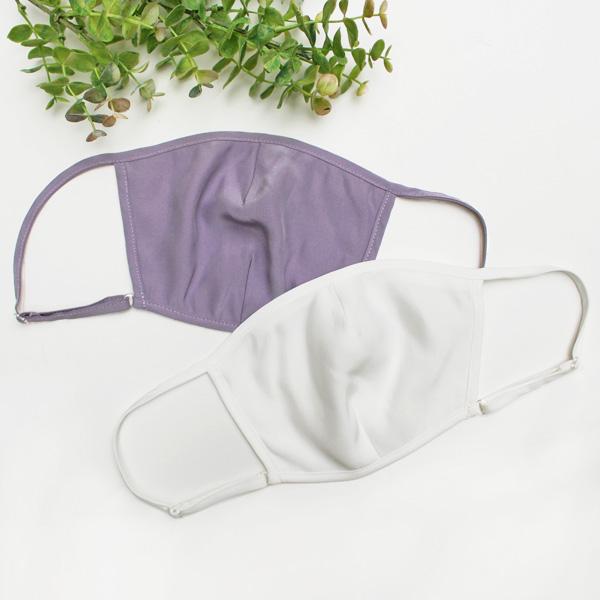 シルクサテン ポケット付きマスク